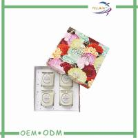 Best Colorful Flower Printing Candle Packaging Boxes For Four Pieces wholesale