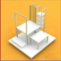 Best Multi - Functional Wooden Display Racks Cosmetic / Purfume Slatwall Display Units wholesale