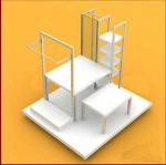 Quality Multi - Functional Wooden Display Racks Cosmetic / Purfume Slatwall Display Units for sale