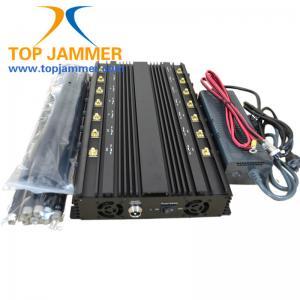 Quality 14 Bands Power Adjust Jammer Blocker Shield CDMA GSM DCS 3G 4G LTE Wifi GPS L1 L2 L3 L4 L5 for sale