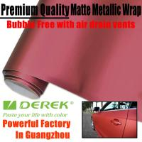 Quality Matte Metallic Car Wrapping Films - Matte Metallic Red for sale