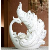 Cheap Ceramic Gift Swan Ornaments Crafts Home Decor for sale