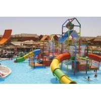 Quality Small Colorful Water Playground Equipment Enclosed Slide For Kids And Water Park for sale