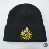 Quality Unisex Embroidered Knit Beanie Hats Winter Season Advertising Promotions for sale