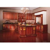 Best European Style Hardwood Solid Wood Kitchen Cabinets Wall Mounted Traditional wholesale
