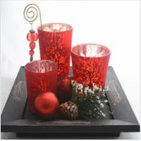 Best Mercury finish glass candle holder set for promotional gifting wholesale