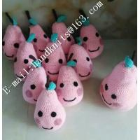 China Factory Custom OEM High Quality Hand Knit Crochet Cotton Baby Pet  Animal Kid Toys and Dolls  DIY Fruit Toy on sale