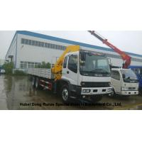 Quality ISUZU 5 Ton -14 Ton Truck Mounted Crane With Telescopic Boom And Knukled Boom for sale