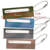 Quality Ligne Metal Luggage Tag w/ Steel Cable for sale