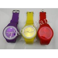 China Personalized Waterproof yellow,  green color strap silicone bands toy wristband watches on sale