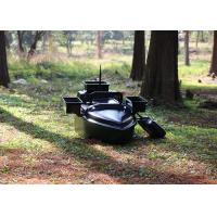 Quality Black radio controlled bait boat ABS engineering plastic hull boat OEM / ODM for sale