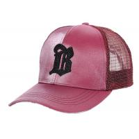 Quality Autumn Snapback Mesh Trucker Cap Colorful 5 Panel With Embroidered Logo for sale