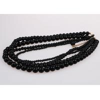 China Fashion Graduated Costume Pearl Necklace Accessories Four Strand Black Color on sale
