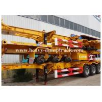 Quality Deck commercial flatbed trailers 40ft flat for transport containers , bulk cargo with warranty for sale
