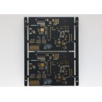 Buy cheap Black soldermask 6L power supply PCB Immersion Gold Shengyi FR4 from wholesalers