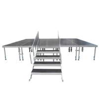 Quality 1.22x2.44m Black Aluminum Stage Platforms Outdoor for sale