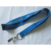 Buy cheap 25mm Blue Silk Screen Lanyard With Key Ring from wholesalers