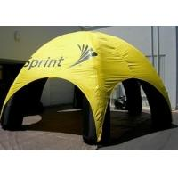 China Yellow Inflatable Party Tent Advertising , Durable PVC Event Dome Air Inflatable Tent on sale
