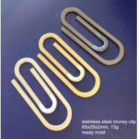 China Paper clip shape stainless steel money clips, cheap S.S. money clip, ready mold, on sale