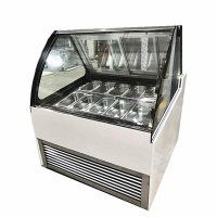 China New Product Ice Cream Showcase With Clear Glass Sliding Door on sale