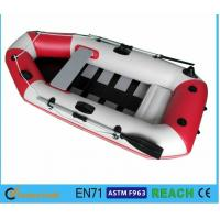 China 5 Person Inflatable Pool Boat , Blow Up Boat For Pool Outboard Motor Transom on sale