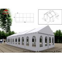 Quality UV Resistant White Commercial Event Tent With Windows , Span Width 3m - 40m for sale