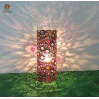 Buy cheap Metal moroccan table lamp candle holder with multicolor acrylic decoration from wholesalers