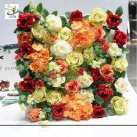 Quality UVG romantic rose artificial floral wall for photography backdrop art studio backgroudn decoration CHR1143 for sale