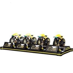 Quality CE Virtual Reality Simulator , RGB LED 220v 4 Players Super Fun Video VR Motorbike Racing Game Machine for sale