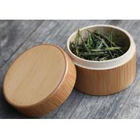 Quality Round Birch Bark Balsa Box Natural Wood Color , Wooden Tea Bag Gift Box for sale