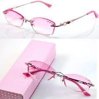 Quality 1010 Rimless Crystal Woman′s Optical Eyeglasses Frames for sale
