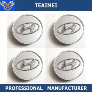 Best 60MM Chrom ABS Plastic Car Logo Custom Wheels Center Caps For Hyundai wholesale