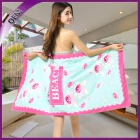 Quality high quality flower design microfiber beach towel for woman for sale