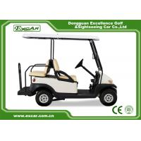 Quality White Used Electric Golf Carts With Trojan Battery CE Approved 4 Seater 275A for sale