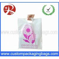 China 60 Microns LDPE / HDPE Die Cut Handle Plastic Bags Moistureproof With Printing on sale