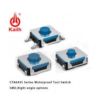 Quality 6x6mm Sealed Ruber SMT Tactile Switch IP67 Protection for sale