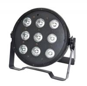 Quality 9pcs*10w 4in1 rgbw high quality led flat indoor par light dj disco par can lighting PAR64 for sale