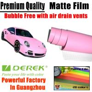 Quality Matte Car Wraps Vinyl Film - Matte Pink Car Wrapping Film for sale