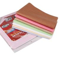 Quality Colorful car cleaner microfiber chamois cloth for glass cleaning window cleaning towel for sale