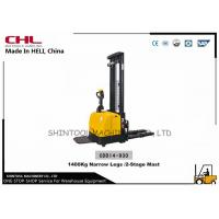 Best Full Electric Hydraulic Stacker 1400KG with Narrow Legs for moving cargo in warehouse wholesale