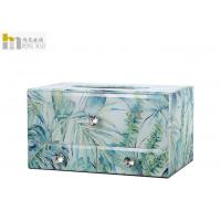 Quality Modern Simple Glass Tissue Box Cover For Living Room Decoration High Hardness for sale