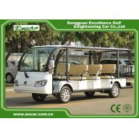 Quality EXCAR white 11 Seater 72V Electric Sightseeing Bus With Storage Basket for sale