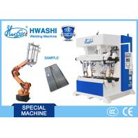Quality Steel Cabinet Corner Automatic Spot Welding Machine With Loading Robot for sale