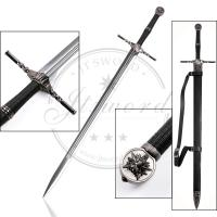 Quality Mirror Polished Stainless Steel Blade Two - Handed Sword Of Witcher 3 Geralt for sale