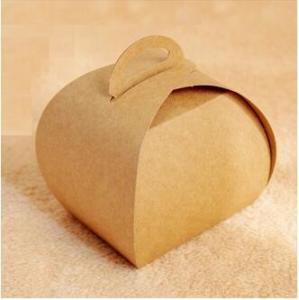China Qi Kraft Paper Cake Packaging Box 50pcs/lot Food Cookies Box Chocolate Macaron Packing Box Birthday Cake Gift Party Favo on sale