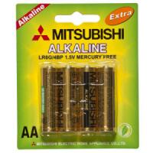 Lr6 Mitsubishi Alkaline Battery (LR6) AA battery