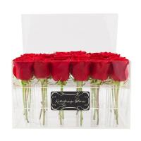 Best custom made cheap wholesale plastic rose acrylic flower box design wholesale