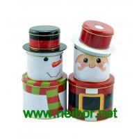 Quality Christmas holiday tin box decorative tin box for sale
