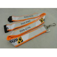 Best Customized Promotional Lanyards , Polyester Sublimation Lanyard With Safety Buckle wholesale