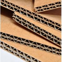 Quality Virgin Wood Pulp Corrugated Cardboard Sheet High Performance Brown Color for sale